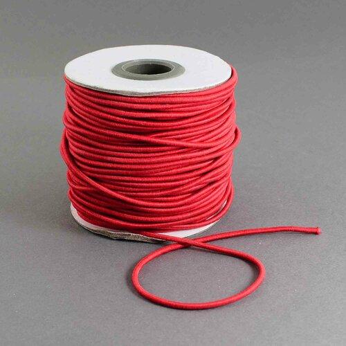 Fil elastique rouge rond 2 mm ,vendu par 2 mètres