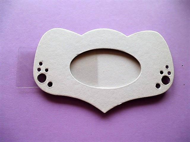 cadre photo support carton à décorer forme miroir princesse pour décoration chambre d'enfant, loisirs créatifs