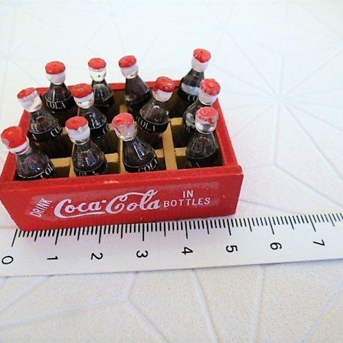Accessoire Pour Vitrine Miniature Caisse De Coca Cola