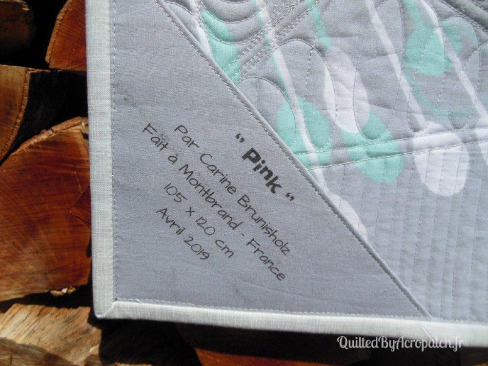 """Tableau textile en patchwork """"Pink"""""""
