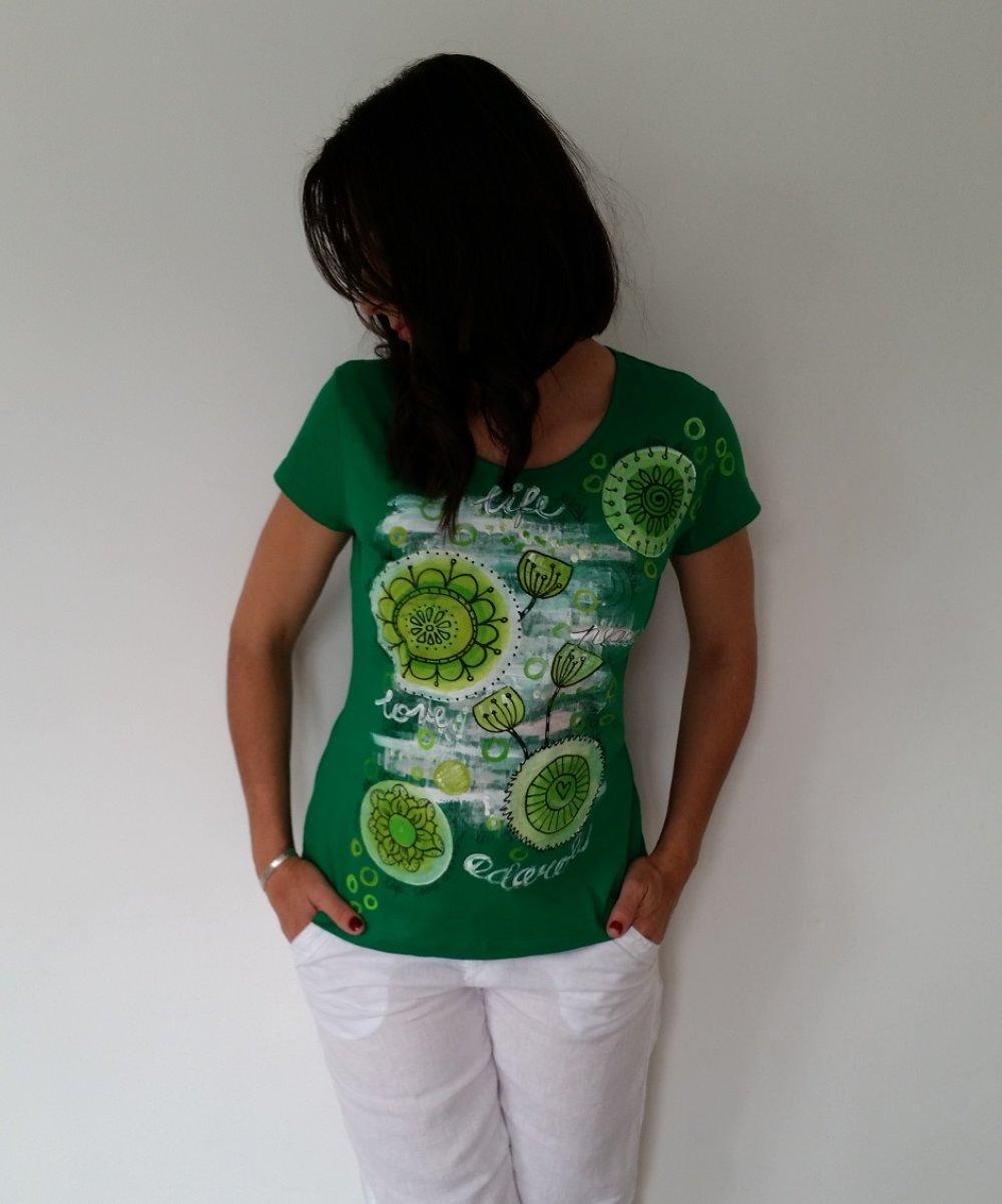 T-shirt vert ,,ZEN altitude,,