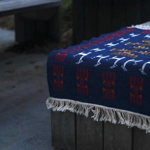 Tapis kilim berbère bleu 1mx60cm