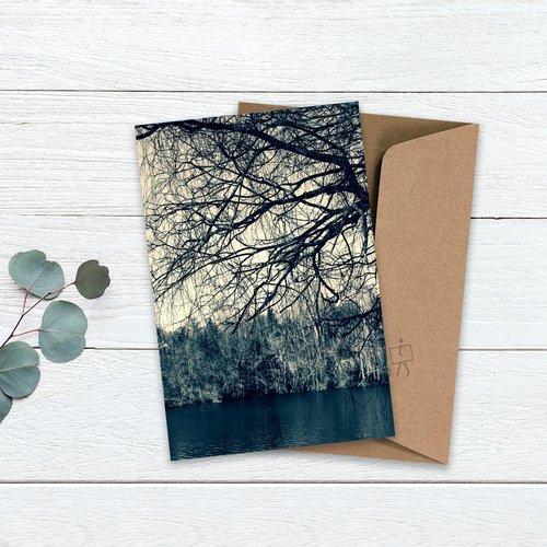 Carte, photo, paysage 10 x 15 cm et son enveloppe.