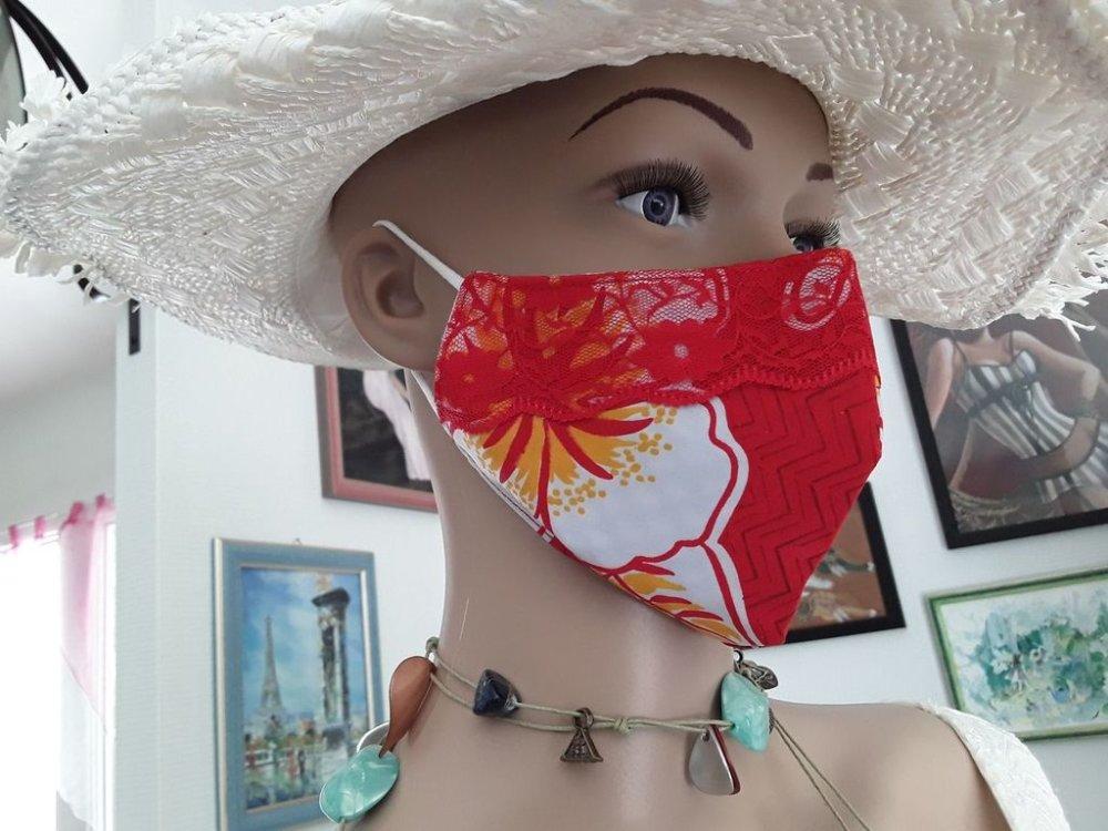 Trio d'été, 1 masque + 1 étui a lunettes + 1 porte monnaie