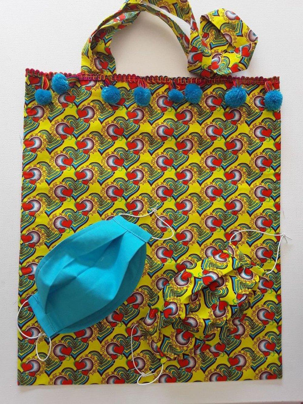 Kit de : 1 sac + 2 masques de protection