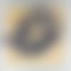 Lot de 10 perles de sodalite bleue rondes en pierre naturelle 8 mm.
