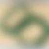 Lot de 10 perles de malachite rondes en pierre naturelle 4 mm.