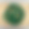 Lot de 10 perles de malachite rondes en pierre naturelle 6 mm.
