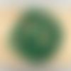 Lot de 10 perles de malachite rondes en pierre naturelle 8 mm.