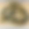 Lot de 10 perles d'agathe jaune rondes en pierre naturelle 8 mm.