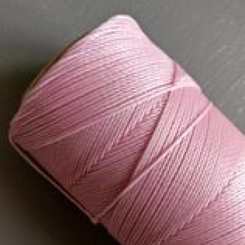 10 mètres fil macramé ciré linhasita  - polyester 0,8 mm d'épaisseur.  pour macramé, bijoux. baby pink réf 239