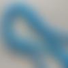 Lot de 10 perles de calcédoine bleu foncé rondes en pierre naturelle 6 mm.