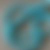 Lot de 10 perles de larimar bleue rondes en pierre 6 mm.