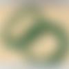Lot de 10 perles de malachite rondes en pierre naturelle 3 mm.