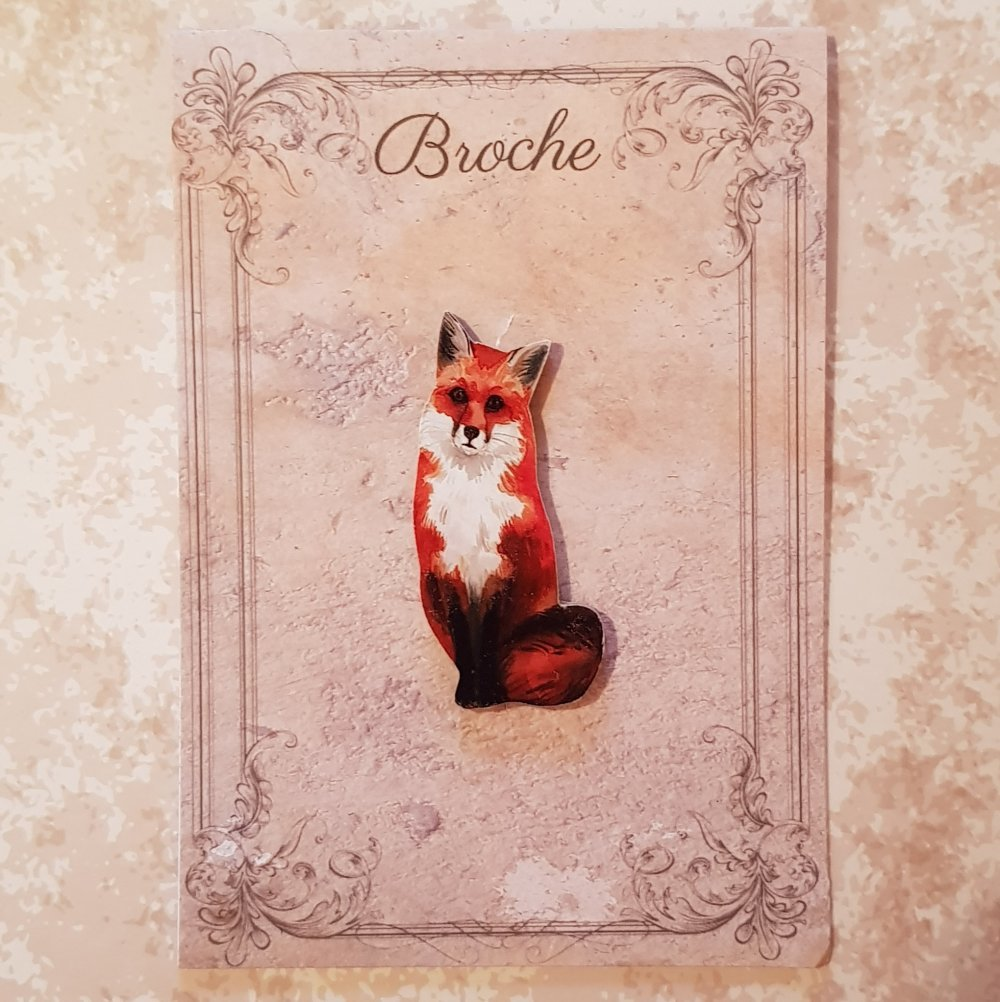 broche renard
