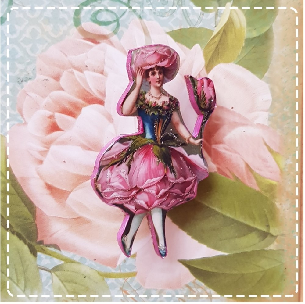 broche  vintage lady