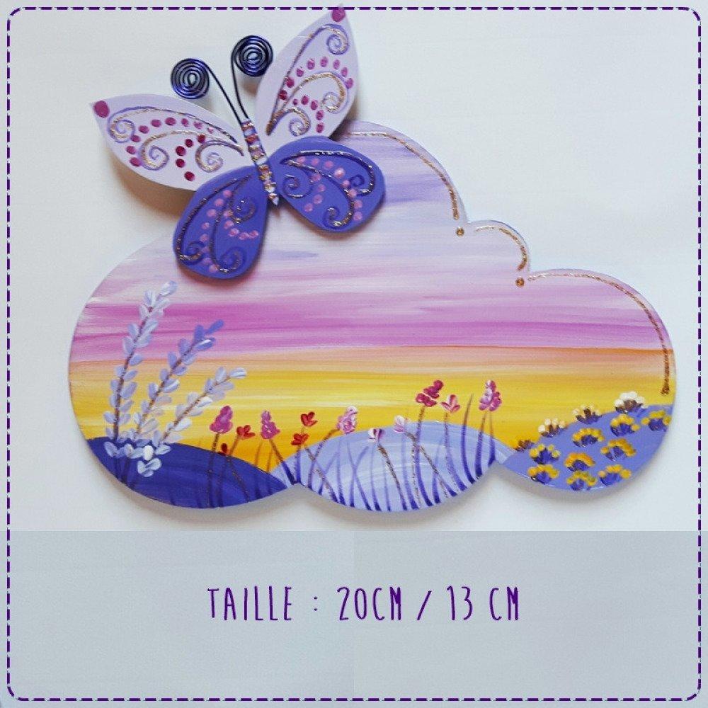 plaque de porte papillon