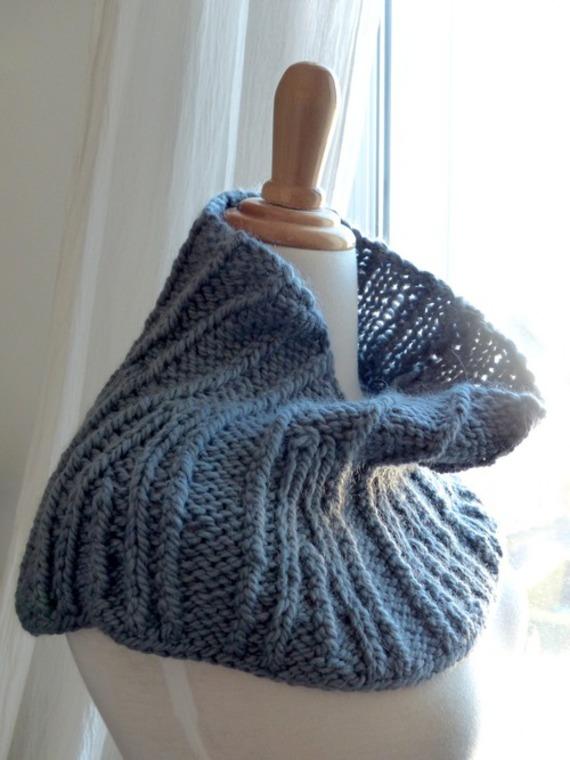 Col capeline façon snood - tricot - laine et alpaga