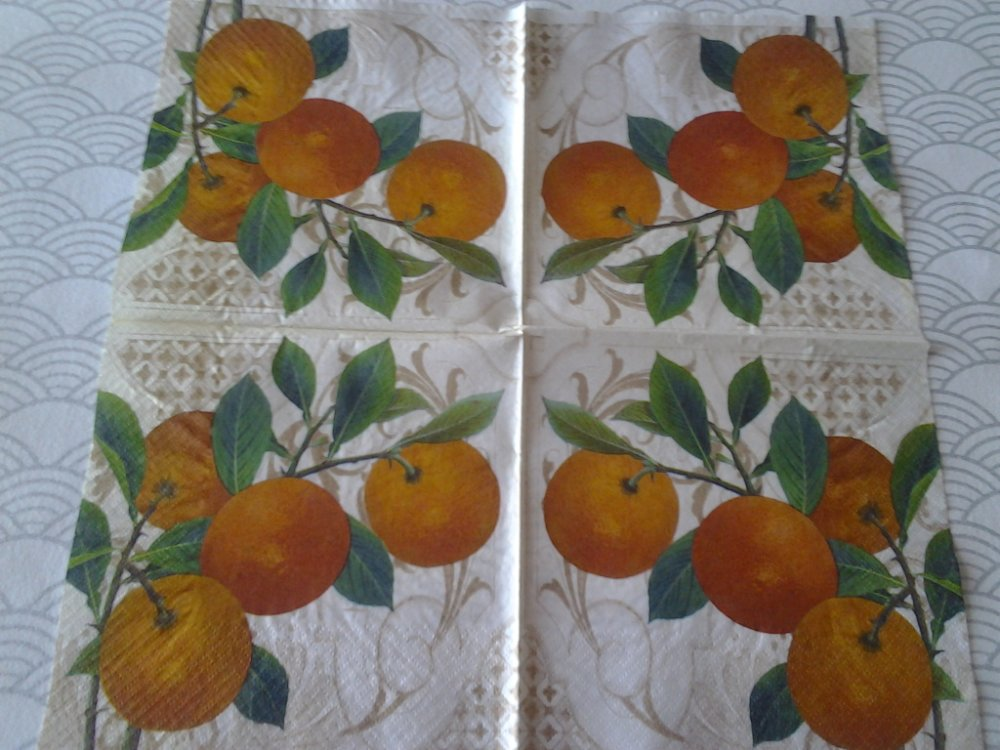 Lot de 2 serviettes en papier Oranges