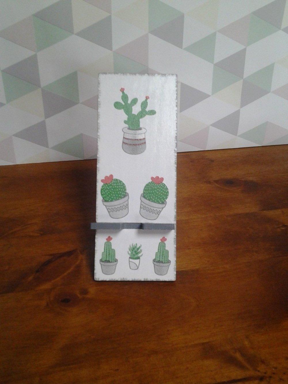 Porte téléphone cactus