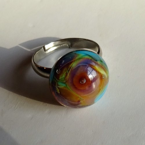 Bague cabochon murano bag.1359