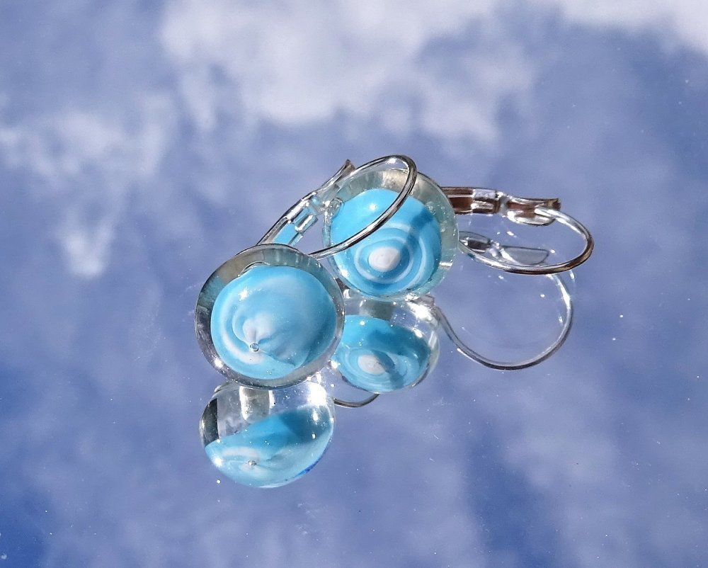 boucles d'oreille perles Murano BCL.2751