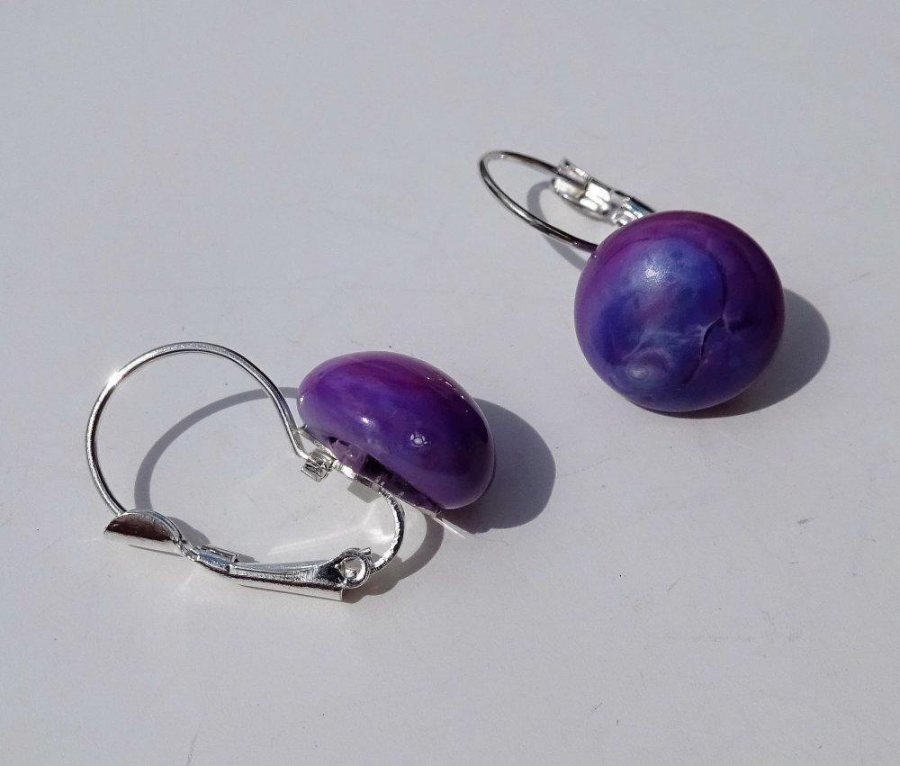 boucles d'oreille perles Murano BCL.2754