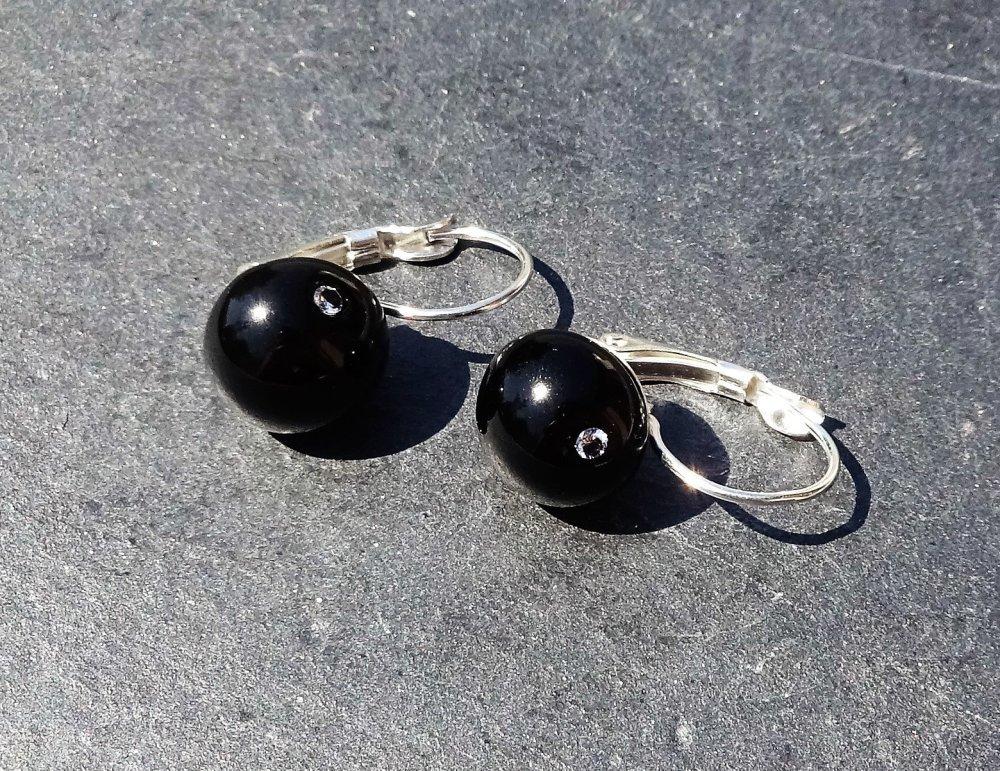 boucles d'oreille perles Murano BCL.2761