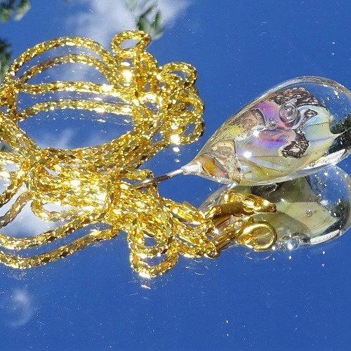 Pendentif verre filé, lampwork, verre de murano cl.0942