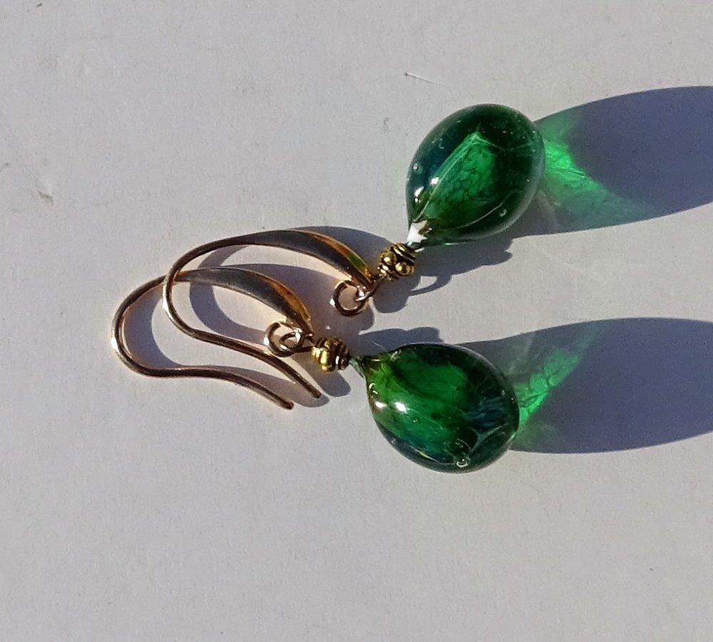 boucles d'oreille perles Murano BCL.2903