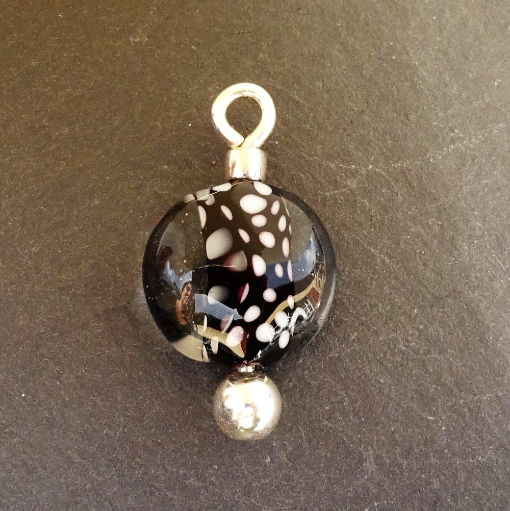 Pendentif perle d'art en verre filé CL.0988