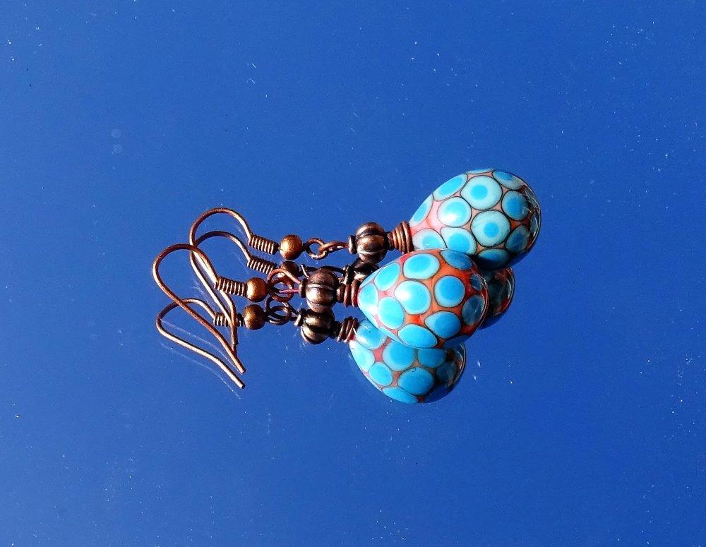 pendants d'oreille verre filé BCL.2930