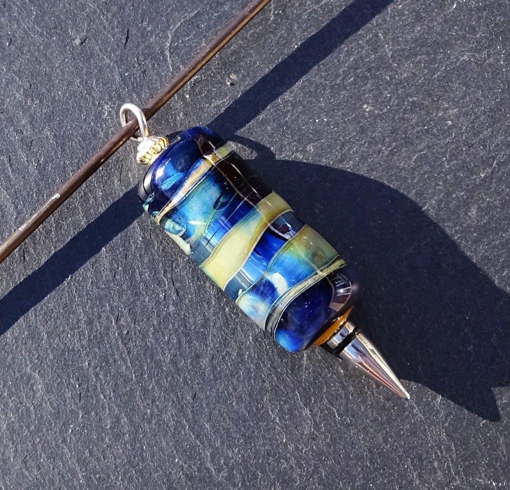 Pendentif perle d'art en verre filé CL.0991
