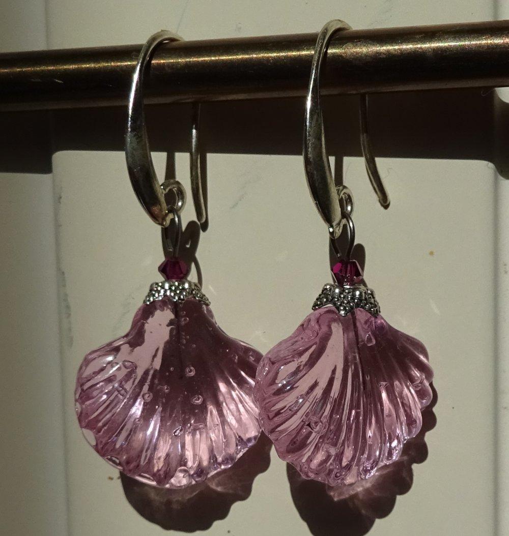 pendants d'oreille verre filé BCL.3027