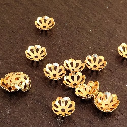 Coupelles filigranées pour perles, fabrication colliers,apprêts, appr.0081