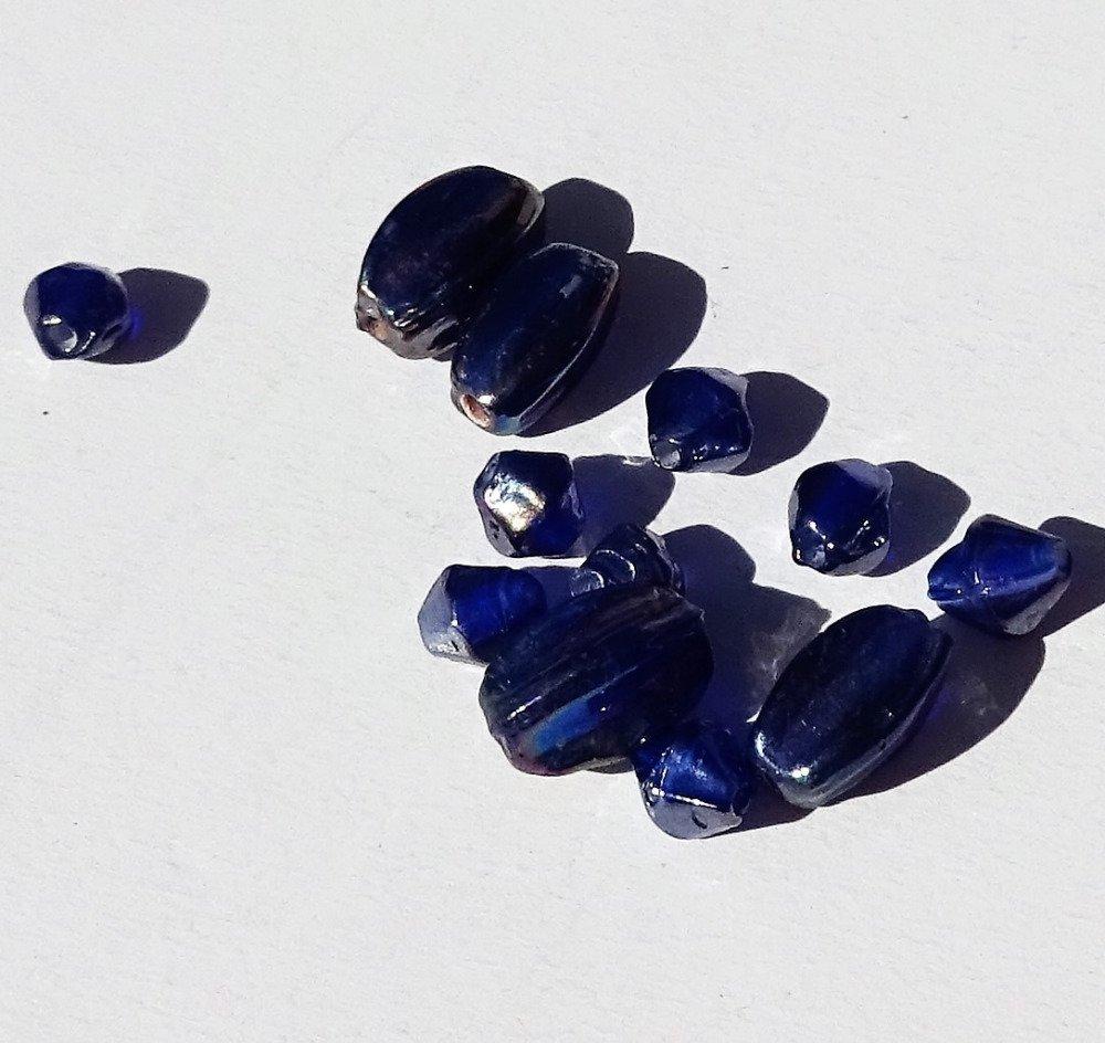 Lot de perles destockées, verre, PERL.2653