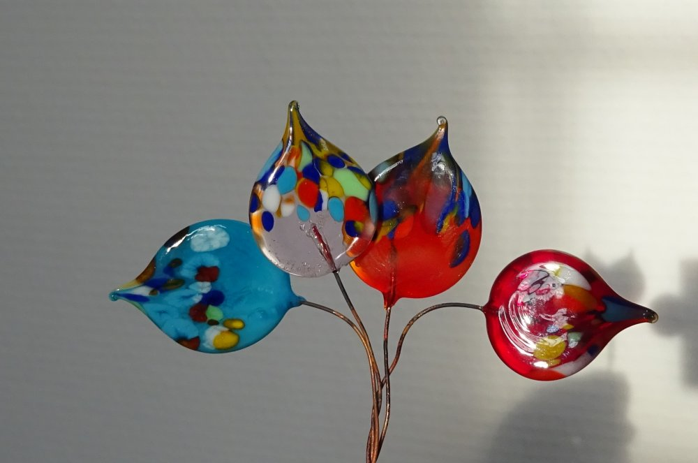 headpins verre filé, lampwork, verre de Murano, PERL.3648