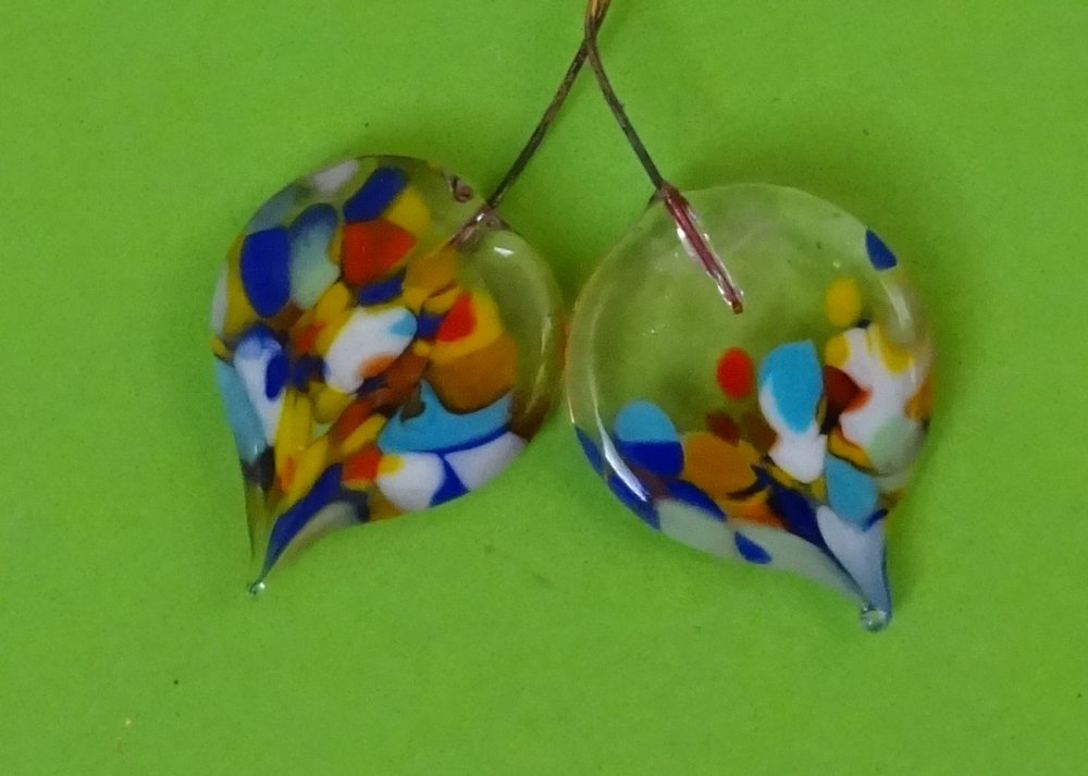 headpins verre filé, lampwork, verre de Murano, PERL.3649