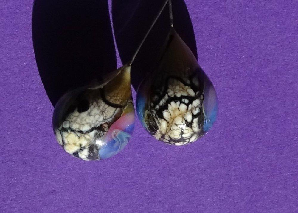 headpins verre filé, lampwork, verre de Murano, PERL.3721