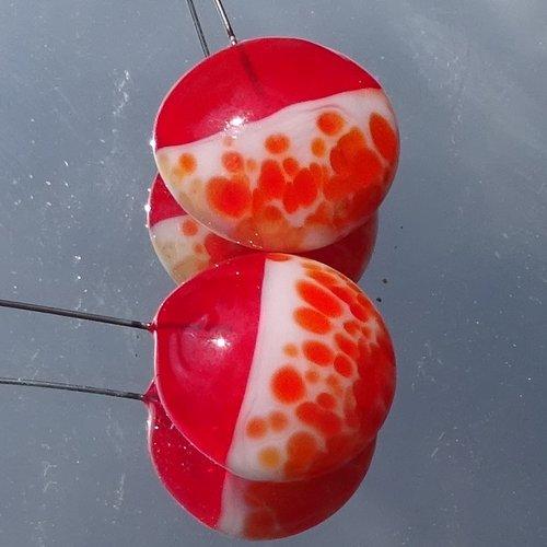 Headpins verre filé, lampwork, verre de murano, perl.4267