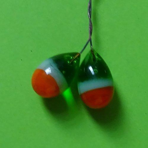 Headpins verre filé, lampwork, verre de murano, perl.3689