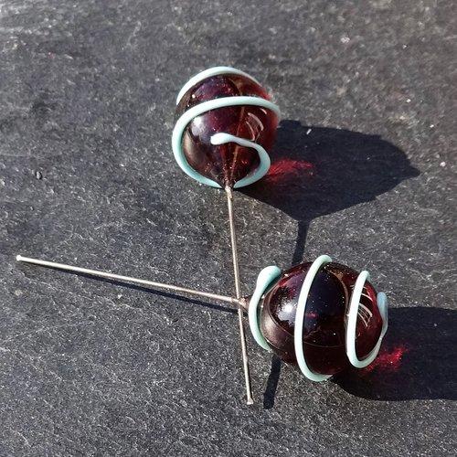 Headpins en verre de murano perl.2779