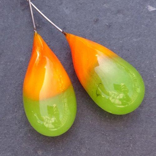 Headpins verre filé, lampwork, verre de murano, perl.4188