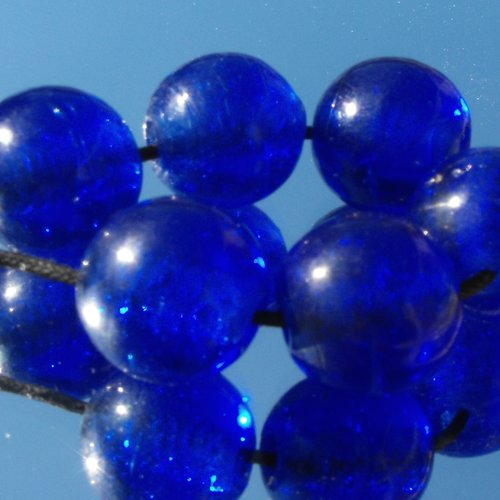 Set de 5  grandes perles en verre perl.1859