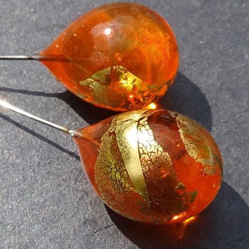 Headpins verre filé, lampwork, verre de murano, perl.4373