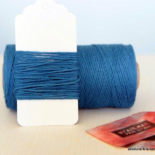 Ficelle bleue  - denim- 10m ep.1mm