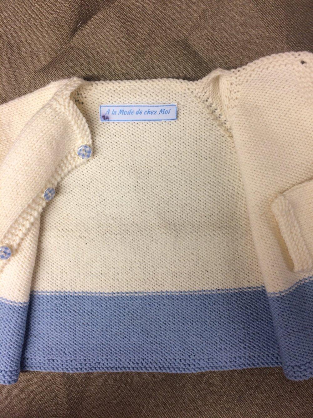 Gilet bébé en pure laine