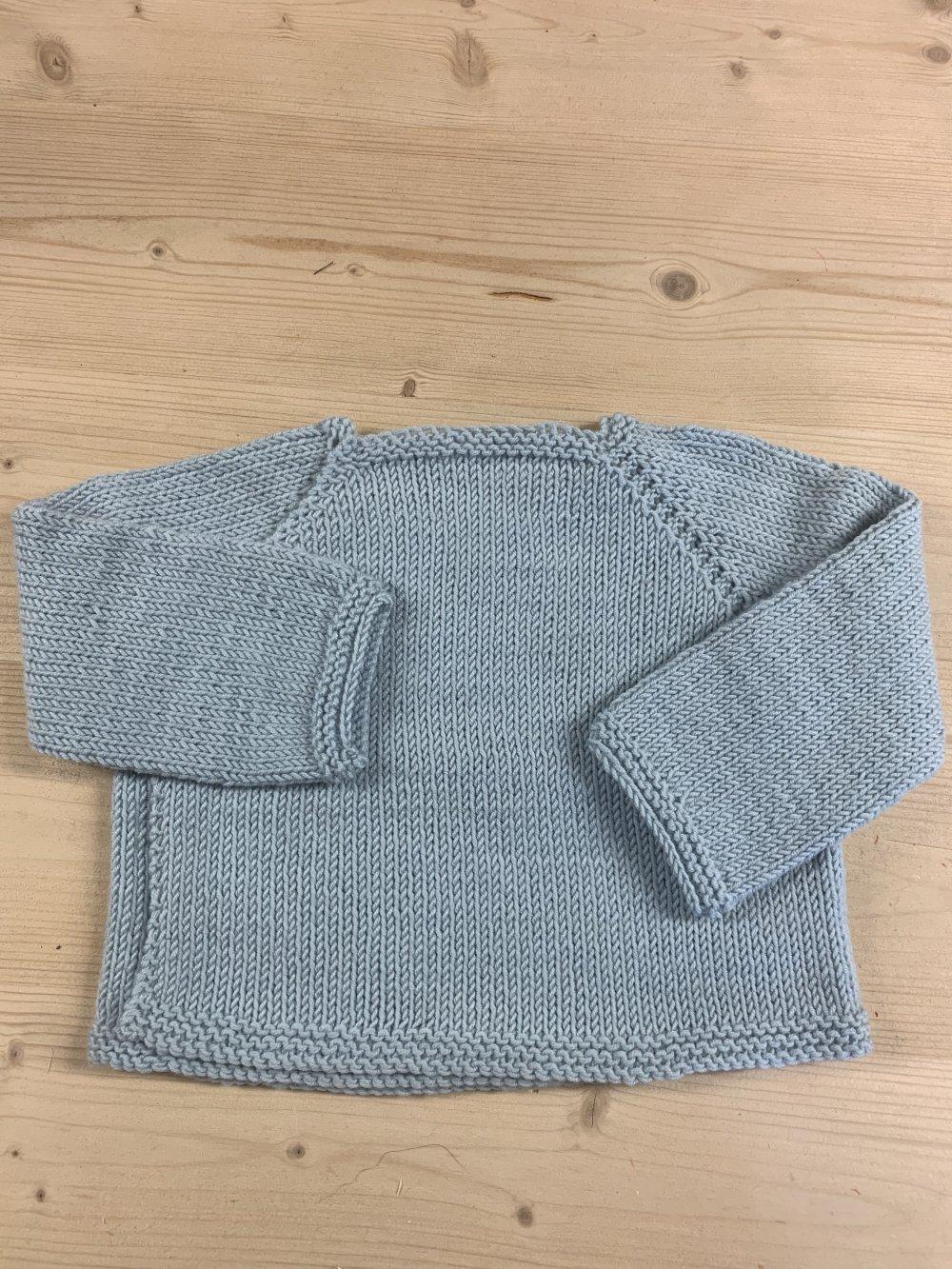 brassière pure laine bleue pâle