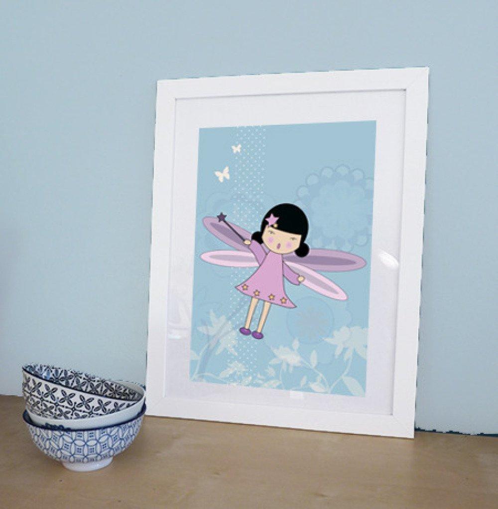 stickers de fée + 1 affiche A4 fée pour décorer chambre enfant