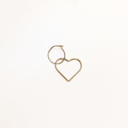 Petite créole coeur en plaqué or